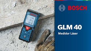 Download Medidor de Distancia a Láser GLM 40 Professional Video