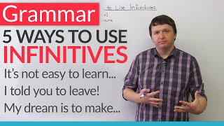 Download English Grammar - 5 Ways to Use Infinitives Video