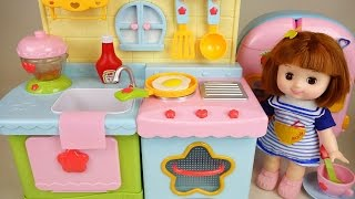 Download Baby Doll Kitchen and play doh cooking toys play Video
