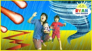 Download NATURAL DISASTER SURVIVAL Family Fun Kids Pretend Playtime Ryan ToysReview Video