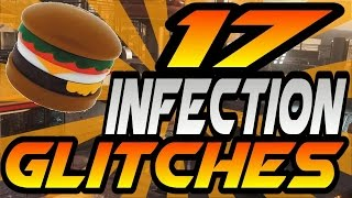 Download 17 Infection/Burger Town Glitches! - All High Ledges, Pile-Ups, Invincible Spots (AW Exo Zombies) Video