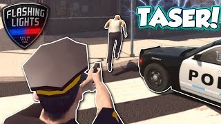 Download FOOT CHASE WITH TASER! - Flashing Lights Multiplayer Gameplay - Police Simulator Video