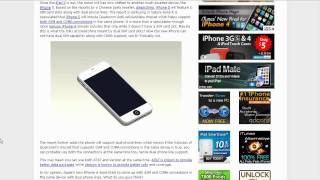 Download iPhone 5 to Support Dual SIM Cards? Video