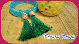 Download Tassel Earrings | DIY Silk Thread Tassel Earrings at Home by Fashion Trends Video