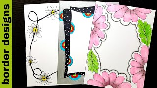 How To Make Beautiful Border Design On Paper For School Project File