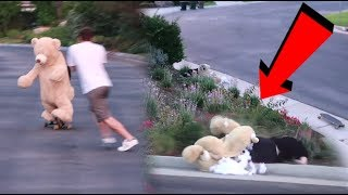 Download TEDDY BEAR ROOMMATE CRASHED HIS SKATEBOARD! Video