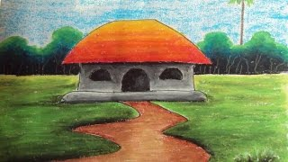 Download How to Draw a Village Landscape with Oil Pastels | Episode-4 Video