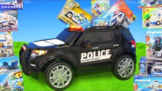 Download Police Cars: Ride on Toy Vehicles w/ Lego Construction Toys, Trucks & Car Surprise for Kids Video