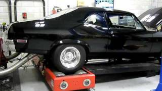 Download 1970 CHEVY NOVA 540 BIG BLOCK 4 SPEED CHASSIS DYNO TEST AND TUNE 408 RWHP 486 FT/LBS Video