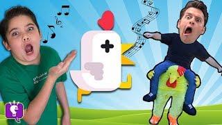Download Let's Play 'Chicken Scream'! Video Game App with HobbyKidsTV Video