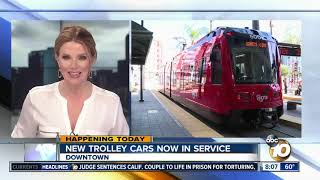 Download New trolley cars now in service Video