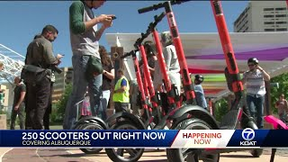 Download Electric Scooters are finally here in Albuquerque Video