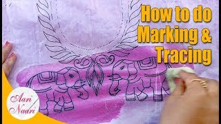Download How to do marking & tracing for aari work | marking & tracing of blouse Video