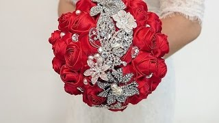 Download #1 DIY How to make your own wedding bridal brooch bouquet Video