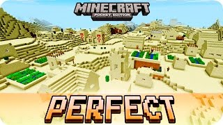 Download Minecraft PE Seeds - Perfect Desert Seed with 3 Villages and 2 Temples - 1.2 / 1.1 MCPE Video