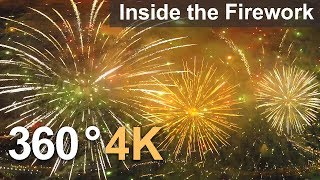 Download Want to fly inside the firework? 360°, 4К aerial video Video