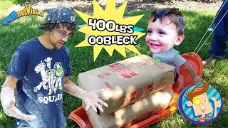Download TRAPPED in OOBLECK! 450lbs Cornstarch BATH CHALLENGE Family Fun! FUNnel Vision Kiddie Swimming Pool Video