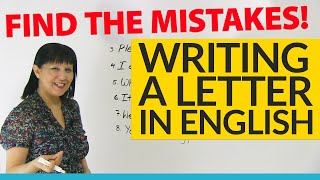 Download How to write a letter: Find the Mistakes! Video