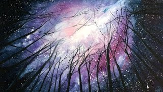 Download Watercolor Galaxy Painting Demonstration Video