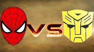 Download BUMBLEBEE ARMY VS SPIDERMAN ARMY - MASSIVE SUPERHEROES WAR - MARVEL VS TRANSFORMER Video