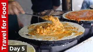 Download Mumbai Street Food Day - Paneer Tikka Dosa, Pav Bhaji, Bhel Puri, and Sev Puri Video