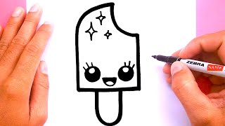 Download How to draw a cute Ice cream pop, Draw cute things Video