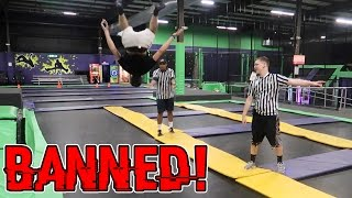 Download KICKED OUT OF A TRAMPOLINE PARK (BANNED) // BROKE ALL THE RULES Video