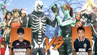Download Team Diamond vs Team Mini Pro Fortnite Tournament! Intense Clan Battle Against Little Brother! Video