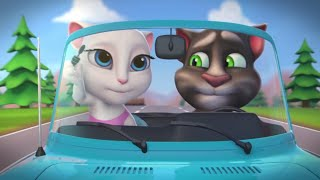 Download Talking Angela - Summer Fun at the Beach with Talking Tom (Shorts Combo) Video
