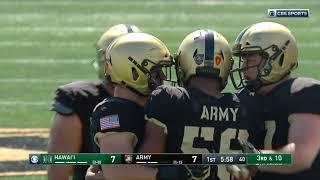 Download Highlights: Army Football vs. Hawaii 9-15-18 Video