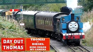 Download DAY OUT WITH THOMAS Thomas and Diesel Runs Under My Camera at Spa Valley Railway, England Video