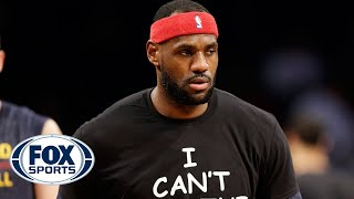 Download LeBron James supports Eric Garner's family with ″I Can't Breathe Shirt″ Video