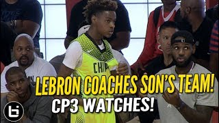 Download LeBron James Coaches Son LeBron Jr. as CP3 Watches! Full highlights! Video