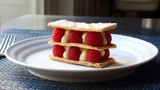 Download Mille Feuille - Vanilla Custard & Raspberry Napoleon Pastry Video