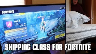Download SKIPPING SCHOOL to Play Fortnite (ALMOST CAUGHT) Video