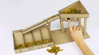 Download DIY Automatic Coin Sorting Machine from Cardboard v2.0 Video