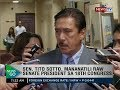 Download NTG: Sen. Tito Sotto, mananatili raw senate president sa 18th congress Video