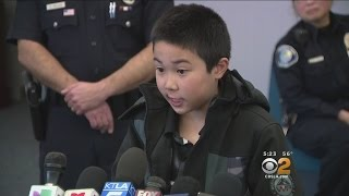 Download Boy, 8, Reunited WithPolice Who Fished Him Out Of Santa Ana River Video