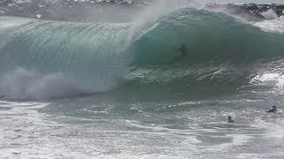 Download PERFECT WAVES at The Wedge During Sneaker Swell - Raw Skimboarding, Surfing and Bodyboarding Video
