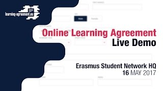 Download Online Learning Agreement Live Demo | 16.05.2017 Video
