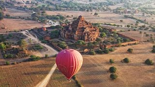 Download Balloon Flight Over Bagan, Myanmar in 4K (Ultra HD) Video