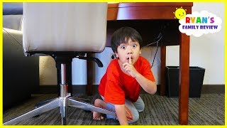 Download Ryan plays Hide and Seek in a Hotel with Mommy and Daddy! Video