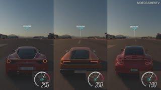 Download Forza Horizon 3 - 488 GTB vs Huracan vs 911 Turbo S - 1 Mile Top Speed Drag Race Video
