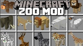 Download Minecraft ZOO ANIMAL MOD / LOTS OF ANIMALS IN A ZOO AND BRING THEM TO LIFE!! Minecraft Video