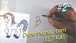 Download Como Transformar a Letra (B) em UNICÓRNIO #ArteECiaBrasil Video