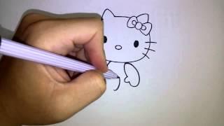 Download สอนวาดรูป การ์ตูน คิตตี้ Hello Kitty ท่านั่ง Video