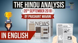 Download English 20 September 2018 - The Hindu Editorial News Paper Analysis [UPSC/SSC/IBPS] Current affairs Video
