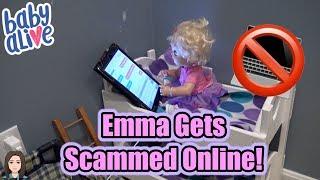 Download Baby Alive Emma Gets Scammed Online! Internet Safety! | Kelli Maple Video