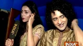 Download Radha Krishn lead actors reach Mumbai Video