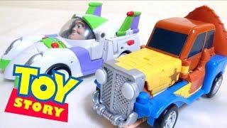 Download 【トイストーリー】くるまにへんけいするウッディーとバズ・ライトイヤーだ!ヲタファのレビュー / Toy Story Transform to a Vehicle Woody & Buzz Video
